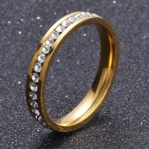 Stainless Steel Gold Ring Women